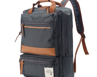 10% off 75->67.5 -Two front Zipper pocket Backpack (Charcoal grey)