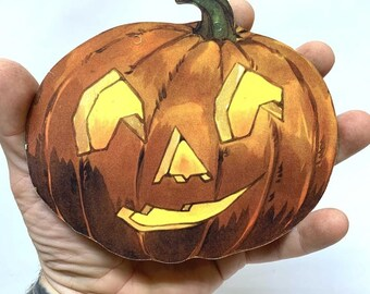 1930 Halloween Jack~O~Lantern Die Cut ~ 5 for 10 dollars