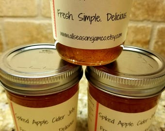 Spiked Apple Cider Jelly      Whiskey infused Jelly
