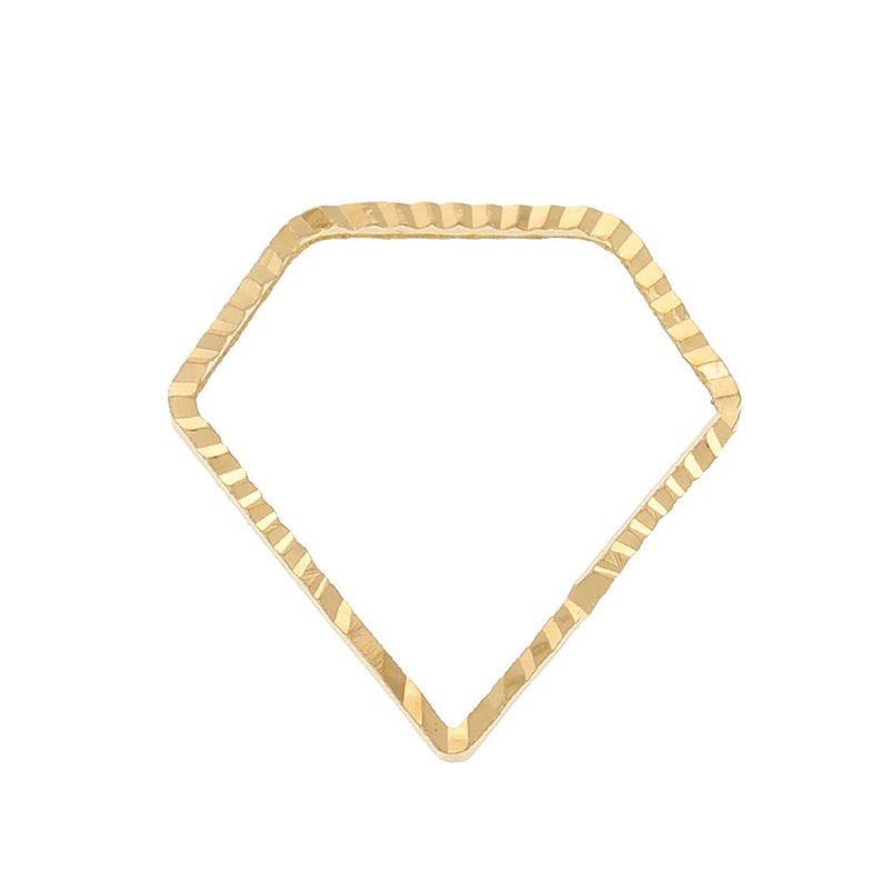 15x15mm Jewelry Finding Jewelry Making Supplies Ships from USA O129 10pc Gold Plated Diamond Bead Frame Geo Pendant Dainty Charm