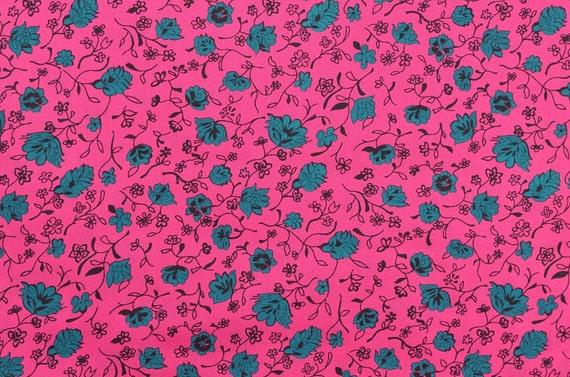 Cotton Rayon Fabric Dress Fabric Sewing Fabric Hot Pink