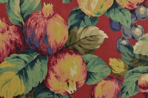 Cotton Upholstery Fabric Heavy Cotton Fabric Fruit Fabric