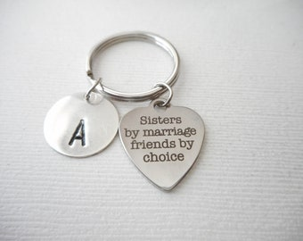 5pcs Sisters by marriage friends by cholce  Charm Pendant Antique silver charm--24mm--YF130