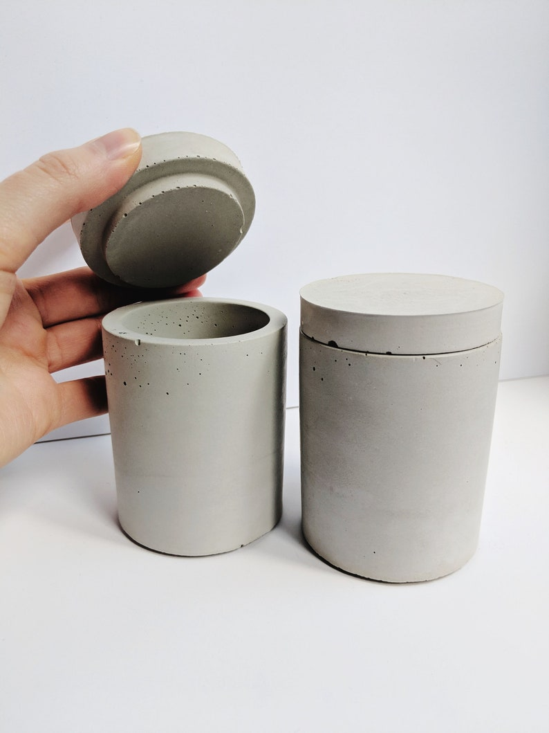 Concrete Modern Catchall. Gifts for Him. Minimalist Jewelry image 0