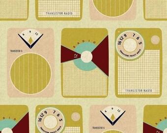 Half Yard Melody Transistors, Beige background Canvas
