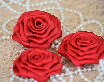 RED TRELLIS with ROSES  ***NEW*** 25mm wide /& 1 yard length Grosgrain Ribbon