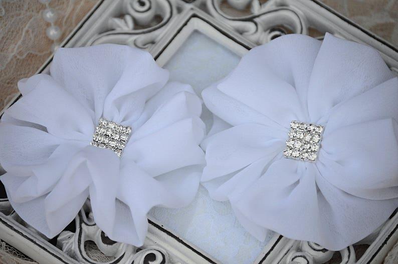 Chiffon Flower Chiffon Fabric Rose Fabric Flowers Ruffle Flower Crystal Chiffon Flowers 3 White Chiffon Flowers