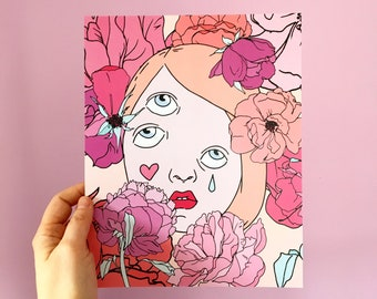 Rose-Mauve print