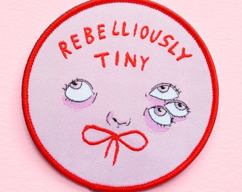 Rebelliously Tiny iron-on woven patch