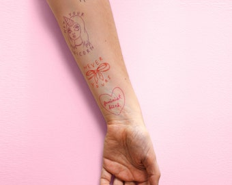 Be Your Own Valentine - Temporary Tattoo 4 pack
