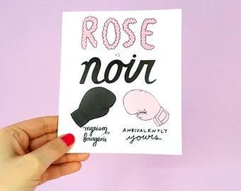 Rose vs Noir par Ambivalently Yours et Myriam Bourgeois
