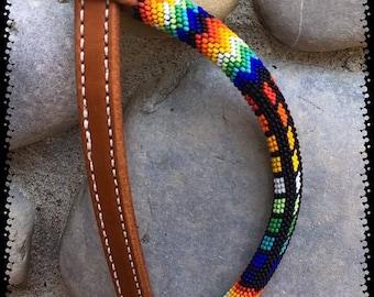 custom beaded Beaded headstall, Personalized beaded headstall, beaded tack, one ear beaded headstall, beaded horse tack, beaded ear piece,