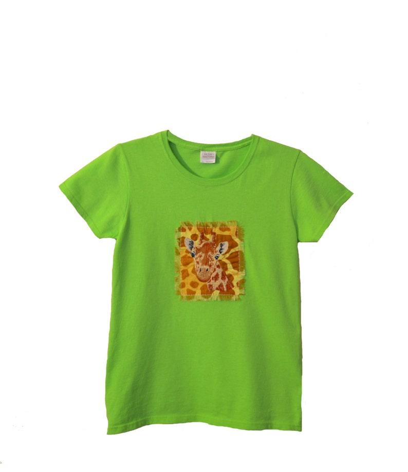 88d05f4d Giraffe Embroidered Shirt Women's Giraffe Shirt Giraffe   Etsy