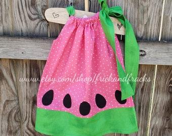 307b73f44f39 Watermelon Pillowcase Dress, Watermelon Dress, Watermelon Outfit, Summer  Dress, Summer Outfit, Beach Dress, Baby Watermelon Dress, Toddler