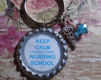 Keep Calm And Lawyer On Backpack Handbag Purse Bottle Keychain Tassel Charm