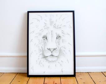 Printable, downloadable digital art- lion