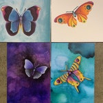 Notecards - Butterflies - Stationary - Nature Cards - Blank Cards - Greeting Card - Garden - Notecard Set - Butterfly Notecards - Watercolor