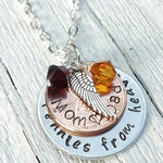 Pennies from Heaven Pendant Necklace, Someone in Heaven, Memorial Jewelry, Penny Jewelry , Angel Jewelry, Missing You, Funeral Gift