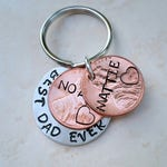 Fathers Day Gift, Fathers Day, Penny Keychain, Personalized Keychain, Dad est, Stamped Penny, Best Dad Ever, Custom Keychain
