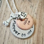 Pet Loss Dog Memorial Necklace, Furever In My Heart, Pet Memorial Jewelry, Charm Necklace, Rainbow Bridge Gift, Dog Jewelry