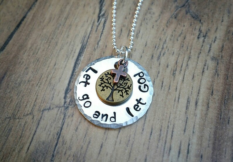 Let Go and Let God Necklace Religious Jewelry Spiritual image 0