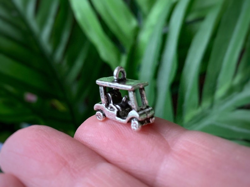 2 pc Golf Cart Charms image 0