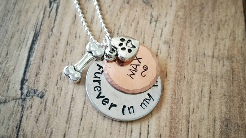 Pet Loss Dog Memorial Necklace Furever In My Heart Pet image 0