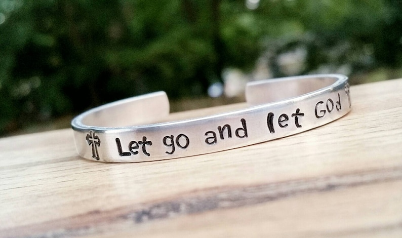 Let go and let God Bible Jewelry Spiritual Gift Bible image 0