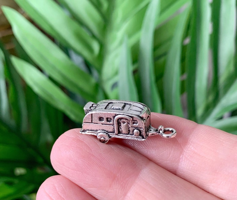 2 Retro Camper Travel Trailer Charms image 0