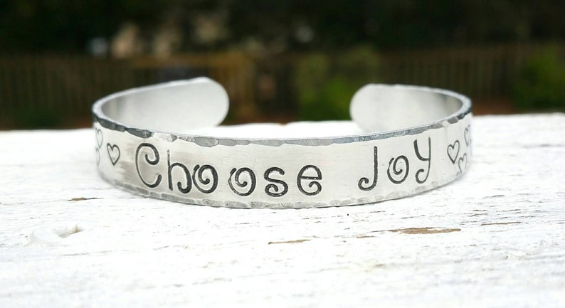 Choose Joy Personalized Jewelry Love Bracelet Happiness image 0