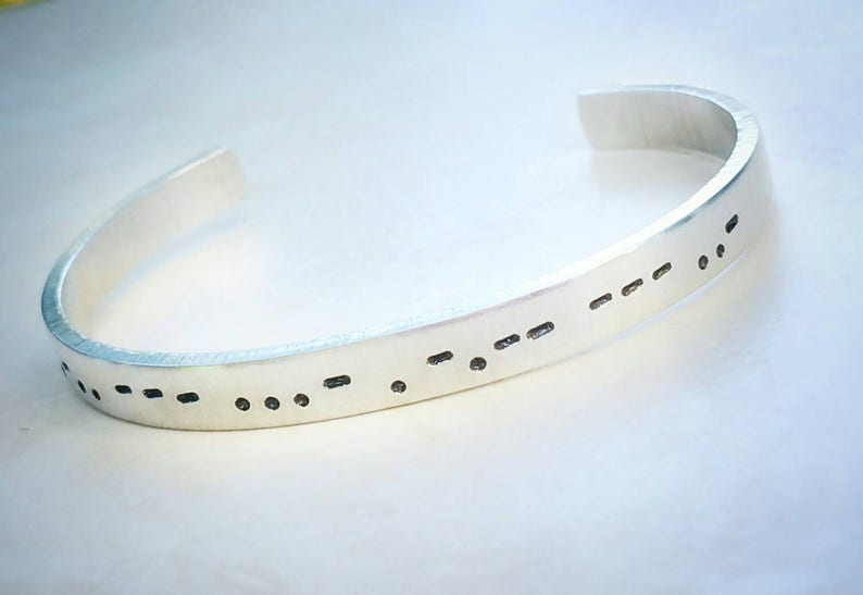 Morse code bracelet Personalized morse code Secret message image 0