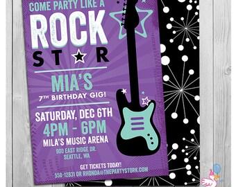 Rockstar Invitation Etsy