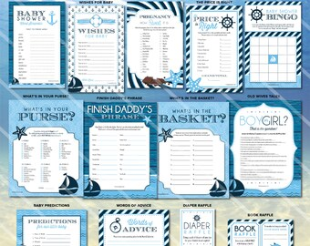 Baby Shower Games Boy Baby Shower Games The Price Is Right Etsy