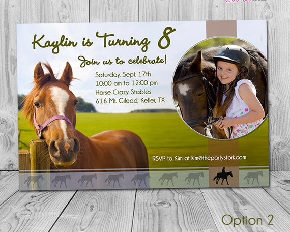 Horse Invitations Horse Party Invitations Printable Horse Birthday