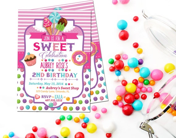 candy invitation candy birthday invitations sweet shoppe party