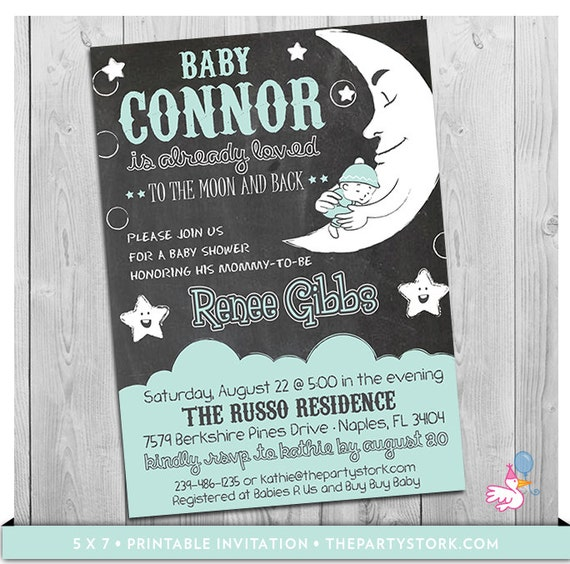 Moon and stars baby shower invitation printable i love you to the il570xn filmwisefo