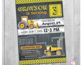 Dump Truck Birthday Invitation Construction Birthday Invitation Dump Truck Party Invitation Dump Truck Invitation Construction Invitation