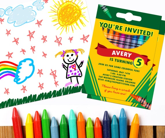 graphic regarding Printable Crayons named Crayon Get together Invitation: Crayon Bash Printable, Birthday
