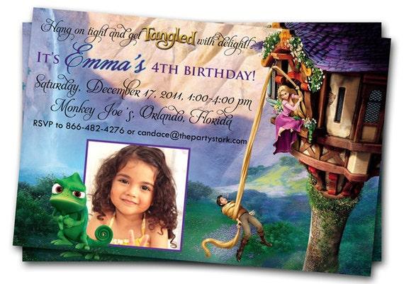 Tangled Invitation Rapunzel Invitation Tangled Birthday Party