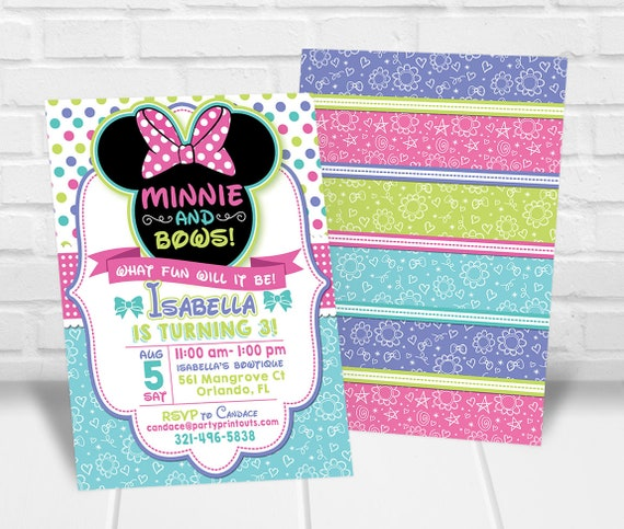minnie bowtique invitation mouse mouse bow tique invitation minnie