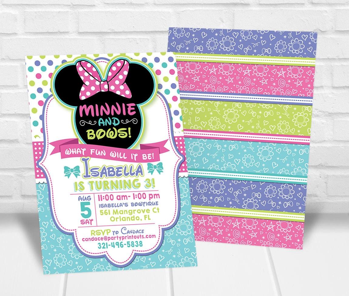 Minnie Bowtique Invitation Mouse Bow Tique