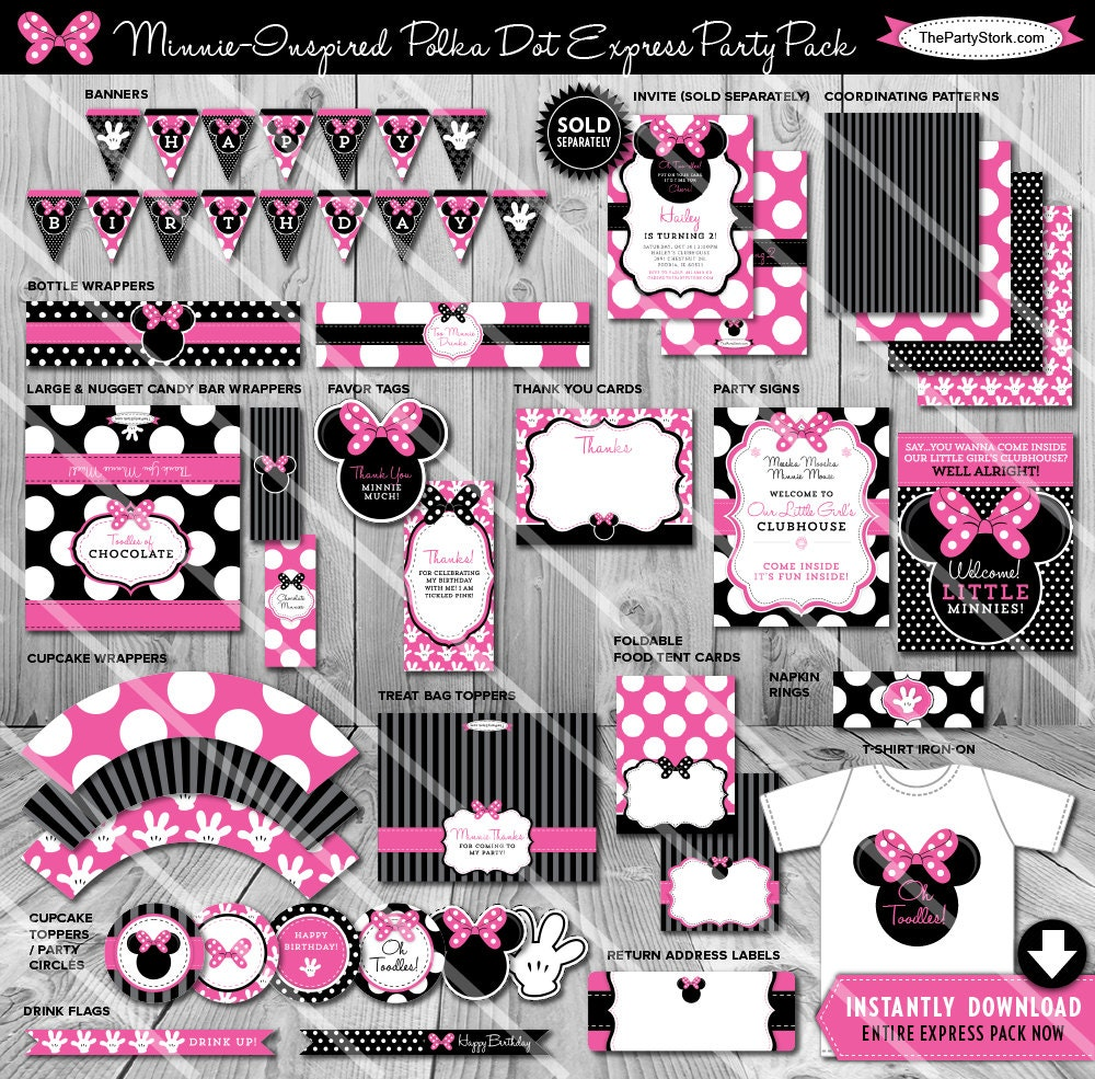 Minnie Mouse Party Decorations Minnie Birthday Decorations