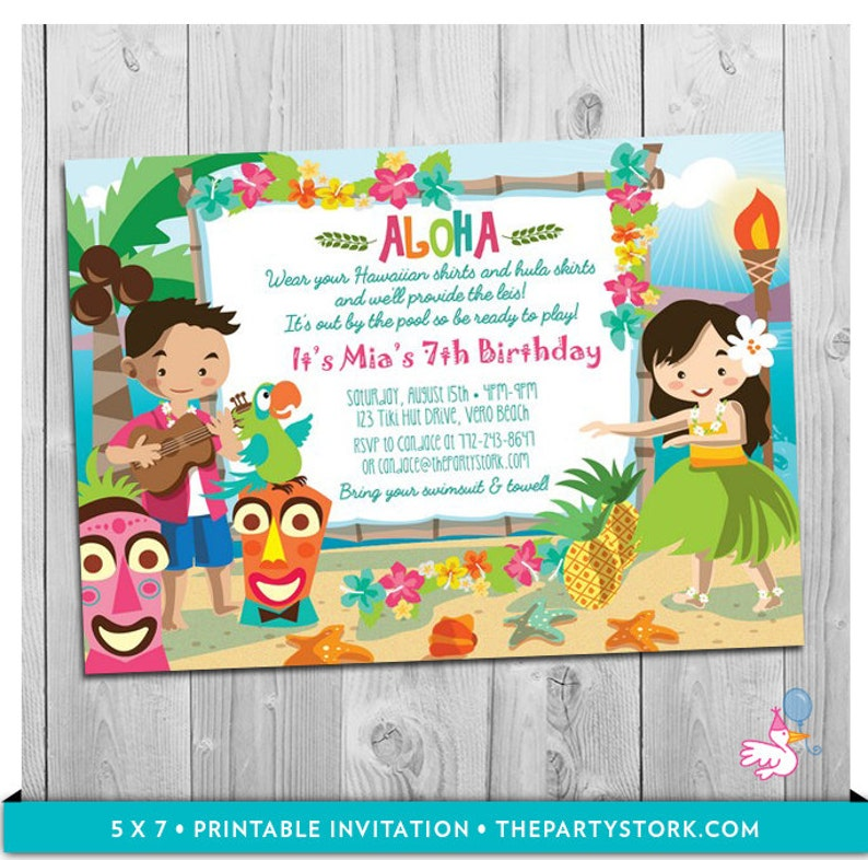 image about Printable Luau Invitations identified as Luau Bash Invitation: Printable Women of all ages Birthday Hawaiian Luau Occasion Invites Customized Luau Invite Electronic Teenager Children