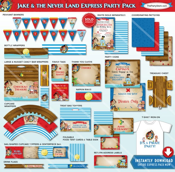 Jake And The Neverland Pirate Birthday Party Decorations Jake And