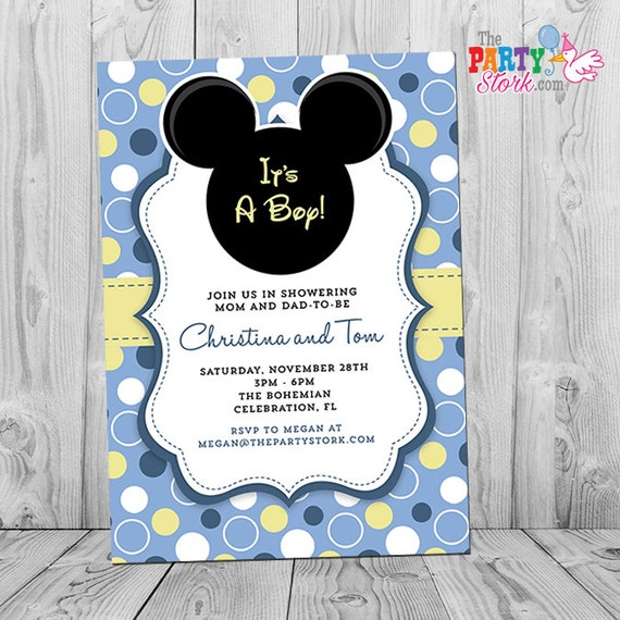 Selective image regarding mickey mouse baby shower invitations printable