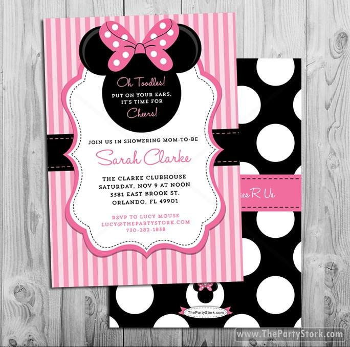Minnie mouse baby shower invitations printable minnie mouse etsy zoom filmwisefo