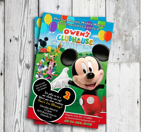 photograph relating to Mickey Mouse Printable Birthday Invitations identify Mickey Mouse Clubhouse Invites, Mickey Mouse Clubhouse