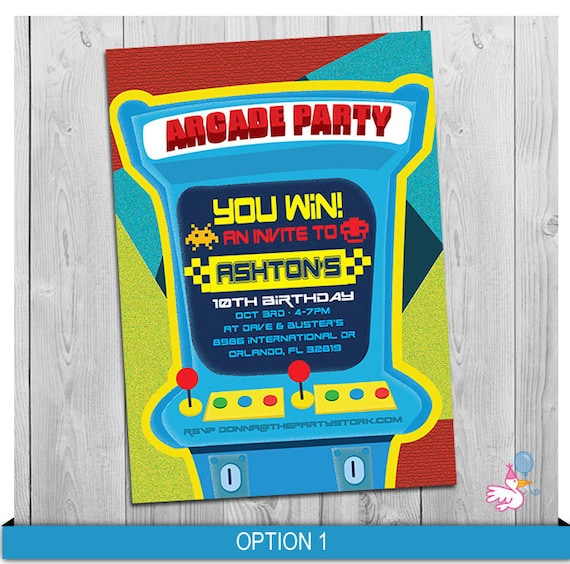 picture relating to Free Printable Video Game Party Invitations identify Arcade Invitation, Arcade or Video clip Match Occasion, Video clip Sport