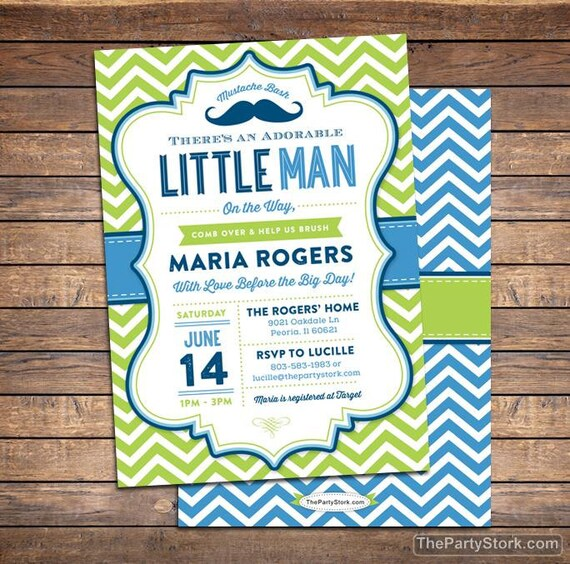 Little man baby shower invitation mustache baby shower etsy image 0 filmwisefo
