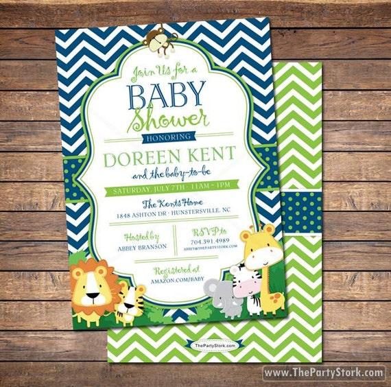 Safari baby shower invitation jungle safari baby shower themed il570xn filmwisefo